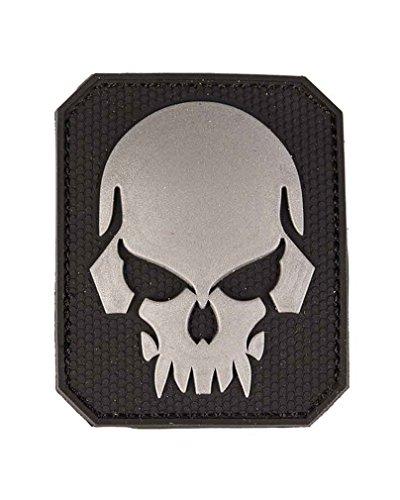 Mil-Tec Patch 3D Skull PVC m. Klett Large schwarz