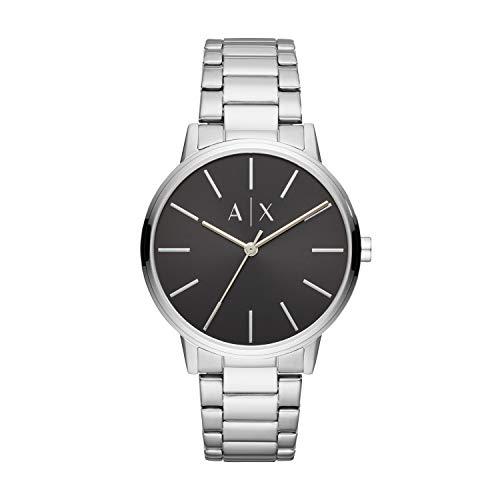 Armani Exchange Herren Analog Quarz Uhr mit Edelstahl Armband AX2700