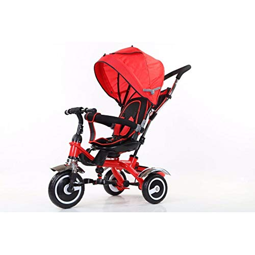 ATAA Baby Triciclo evolutivo 5 en 1 - Rojo - Asiento Giratorio 360º - Ruedas eva antipinchazos y ultrasilenciosas