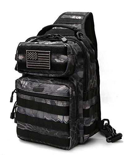 YWEHAPPY 2018 Nouveau Outlife Hotsale 800d Militaire Tactique Sac À Dos Épaule Camping Randonnée Camouflage Sac Chasse Sac À Dos Utilitaire Python Noir