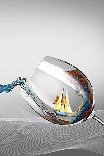 REAHTCY Moderna Minimalista Viewing Wine Copa de Vino Pinturas de Lienzo Imágenes de Arte de la Pared para la decoración de la Sala de Estar (sin Marco) (Color : C, Size (Inch) : 60x80cm(No Frame))