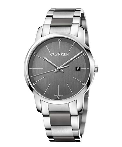 Calvin Klein Reloj Analógico-Digital para Unisex Adultos de Cuarzo con Correa en Acero Inoxidable K2G2G1P4