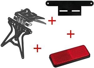 Compatible con Cagiva Raptor 125 Kit para Moto portamatrícula Ajustable Universal + catalizador + Soporte Catar. Placa lámpara Todo homologada Oferta de 3 Productos