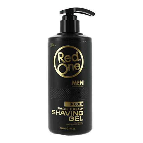 Red One gel de rasage transparent pour barbe senteur gold one ultra lubrifiant 500 ml