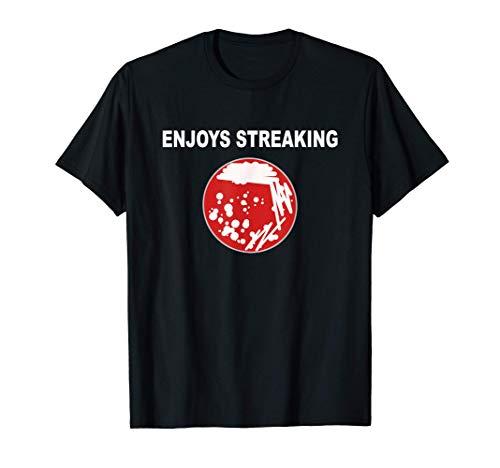 Enjoys Streaking Microbiology Culture T-Shirt