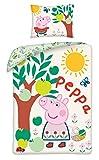 Halantex Peppa Pig - Juego de cama infantil (140 x 200 cm y 70 x 90 cm), diseño de Peppa Pig