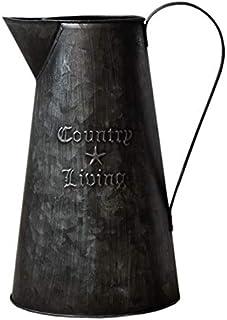 comprar comparacion Hogar y Mas Macetero Decorativo Vintage de Metal Negro para Interior/Exterior. Original en Forma de Regadera 26,5x16 cm