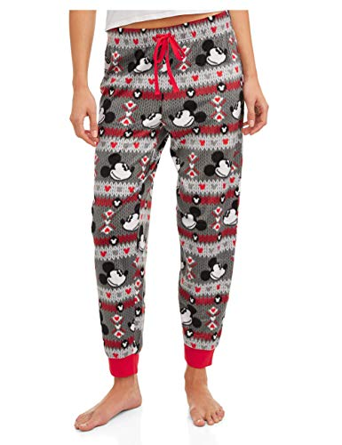 Disney Women's Juniors Mickey Mouse Cuffed Sleep Pants ( 8 / 10) Grey