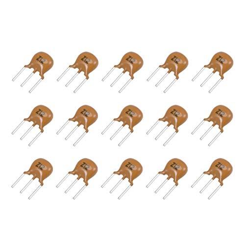 uxcell Ceramic Resonator Crystal Oscillator 12MHz 3 Pin DIP, Yellow 15 Pieces