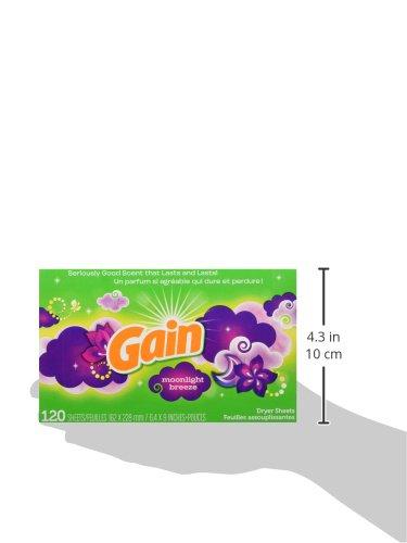 Gain ゲイン 乾燥機用柔軟シート ムーンライトブリーズ 120シート