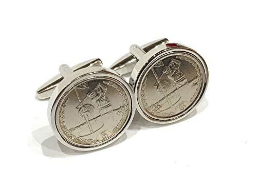Premium Golfing-Manschettenknöpfe für den Golfer aus echten Münzen – Neuheit Golf Manschettenknöpfe für den Golfspieler