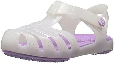 Crocs Girls' Isabella Sandal Preschool Flat, white, 9 M US Toddler
