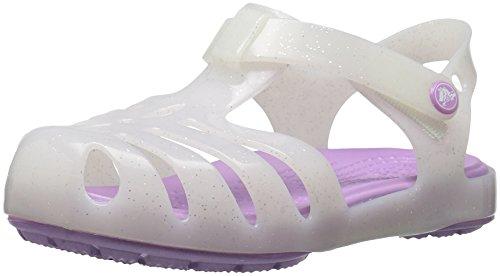 Crocs Girls' Isabella Sandal Preschool Flat, White, 6 M US Toddler