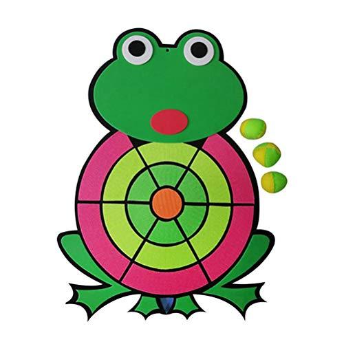 Soft Dart Set, Wurfspiel Kinder Klett Kinder Dartscheibe Frosch Dartscheibe Kinder Dart Spiel Klett Scheibe, 3 Bälle Soft Darts, Sicher Für Kinder