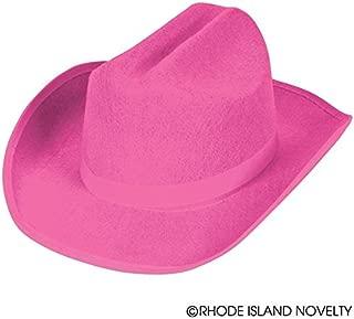 Rhode Island Novelty Child Sized Felt Cowboy Hat Pink, 1 per Order