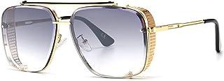 QWKLNRA - Gafas De Sol para Hombre Marco De Color Dorado Lente Morada Gafas De Sol Deportivas Polarizadas Gafas De Sol Deportivas para Hombres Gafas De Sol con Gradiente contra Rayos UV Mujeres Moda H