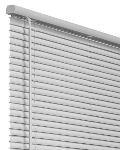"""CHICOLOGY Cordless 1-Inch Vinyl Mini Blinds, Horizontal Venetian Slat Light Filtering, Darkening Perfect for Kitchen/Bedroom/Living Room/Office and More, 35"""" W X 48"""" H, Gray (Commercial Grade)"""
