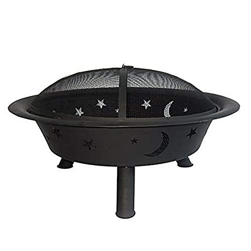 Find Discount Catalina Creations 29 Inch Round Wood Burning Patio Fire Pit | Backyard Firepit for O...