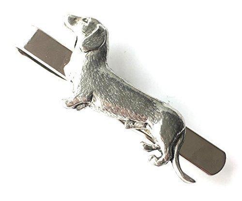 emblems-gifts Dackel Hund Krawattenklammer von Englisch Zinn + Tasche (N440)