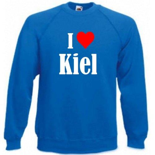 Reifen-Markt Sweatshirt Damen I Love Kiel Größe 2XL Farbe Blau Druck Weiss