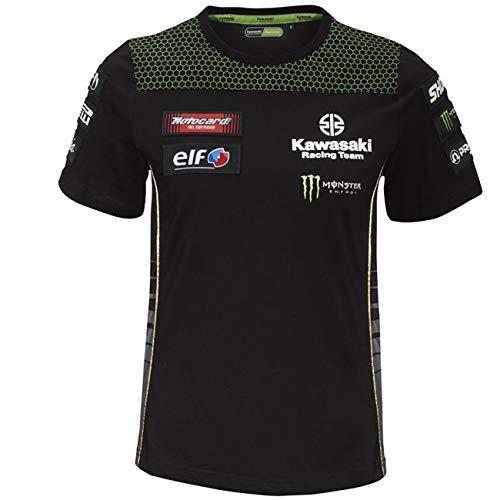 Kawasaki WSBK - Camiseta para mujer negro y verde XL