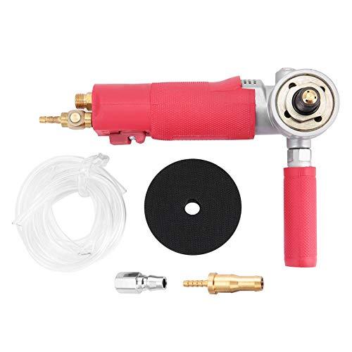 "Amoladora de aire de 3"", pulidora neumática de agua, lijadora de aire húmedo de alta velocidad 4300 rpm para piedra de mármol"