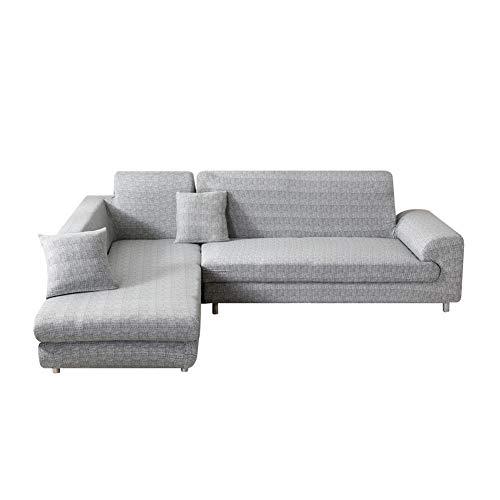 Fansu Elastischer Sofabezug, Stretch Couchbezug Sesselbezug Elastischer Antirutsch Stretchhusse Weich Stoff Sofabezug Möbelschutz (3 Sitze: 190-230 cm,Grau)
