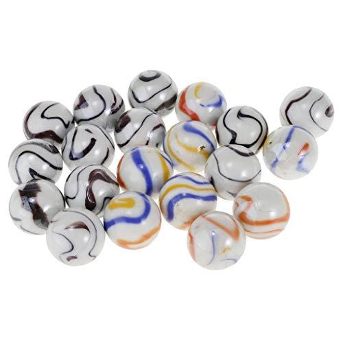 SM SunniMix 20 Stücke (25mm) Ersatz Glasmurmeln Für Chinesische Checker, Verschlimmerung, Wahoo Brettspiel (Mix Farbe)