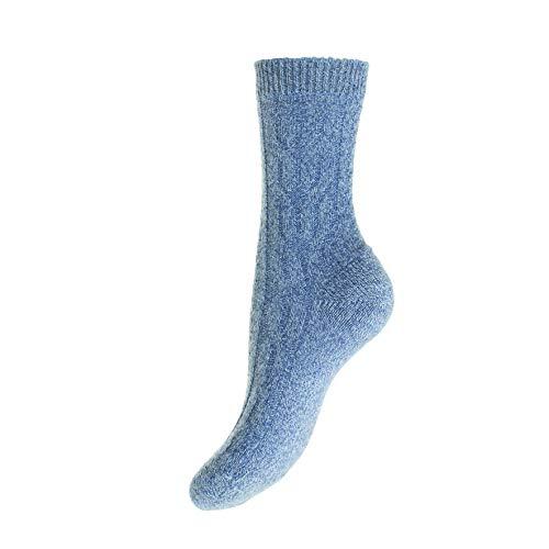 Pantherella - Damen Kaschmir Socken - Cable W272 Gr. One size, Denim-China