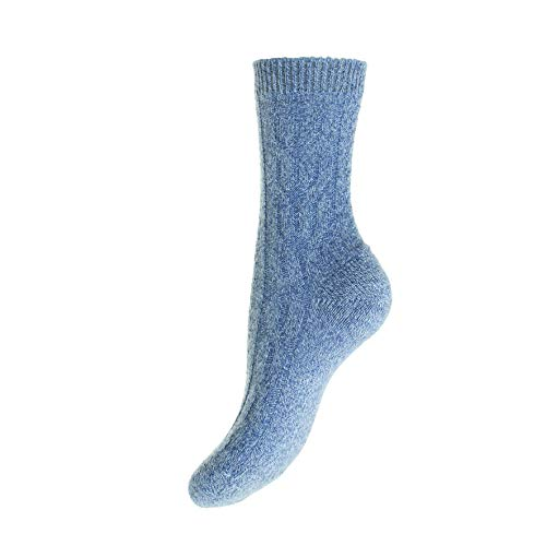 Pantherella - Damen Kaschmir Socken - Cable W272 Gr. One size, Denim-China
