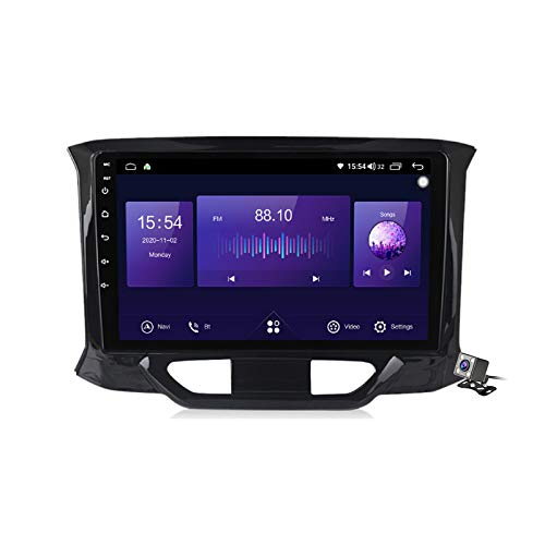 Gokiu Android 10 Car Radio de Navegación GPS para Lada X-Ray 2015-2019 con 9 Pulgada Táctil Support 5G FM Am RDS/DSP MP5 Player/Steering Wheel Control/Carplay Android Auto,7862: 4+64