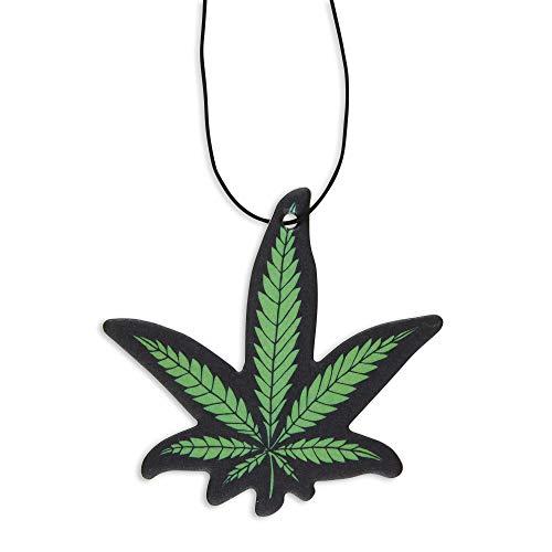Fresh Fresheners Marijuana Leaf Car Air Freshener 3 Pack Scented with Essential Oils