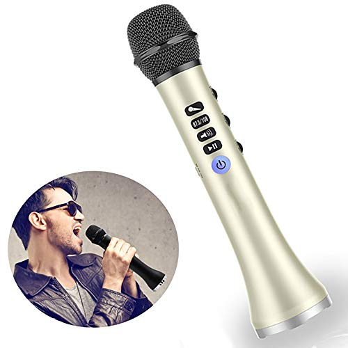 Karaoke Microfoon, HIFI Handheld Karaoke Microfoon Portable Bluetooth Wireless 2 in 1 Luidspreker Kids Microphone Startpagina KTV Player Voor Android & Ios
