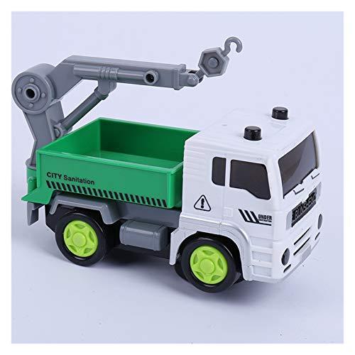 GF Camiones de Basura, Vehículos de construcción, Mezcladores de Cemento, Grúas, Mini Construction Vehicle Engineering Car Dump-Car Dump Modelo de camión GJF (Color : Black)