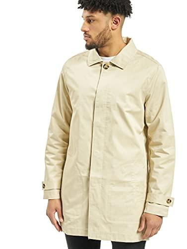 Urban Classics Herren Gabardine Coat Mantel, Elfenbein (Sand 208), Medium