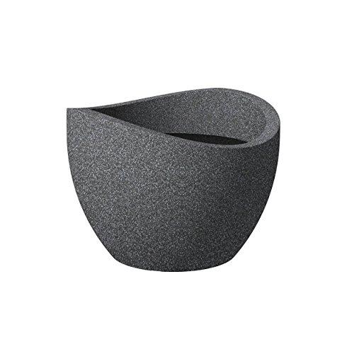 Scheurich 53380 250 40 Wave Globe Pot de Fleurs Plastique Granit Noir 40 x 40 x 30 cm