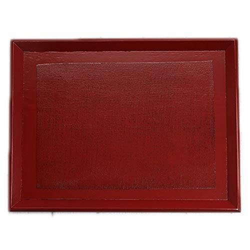 お盆 トレー 木製 羽反 長角盆 布貼り 根来 約40×30cm