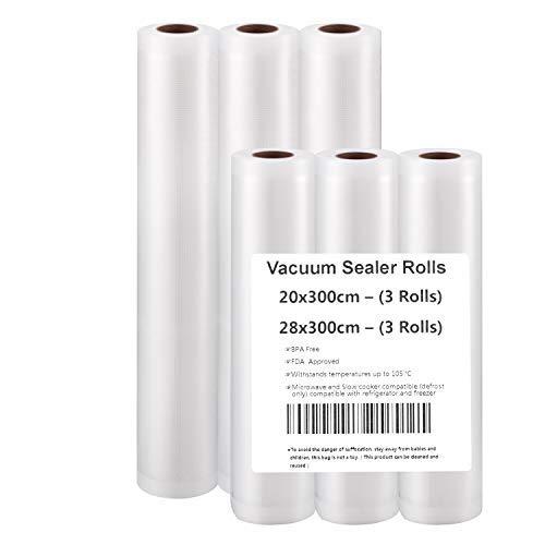 Imballaggio Rotoli per Macchine sottovuoto(3m) (20x500cm(6 Rotoli))