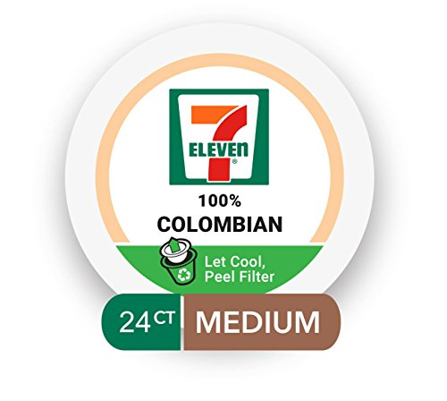 7-Eleven Coffee Single Serve Cups 24 Count (100% Colombian, 2 boxes of 12 Pods)