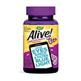Nature's Way Alive! Teen Gummy Multivitamin for Her, Filters Blue Light, Citrus Burst Flavor, 50 Gummies