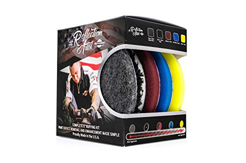 """The Rag Company Buff and Shine Reflection Artist Complete 5"""" Buffing Kit QP-5RA"""