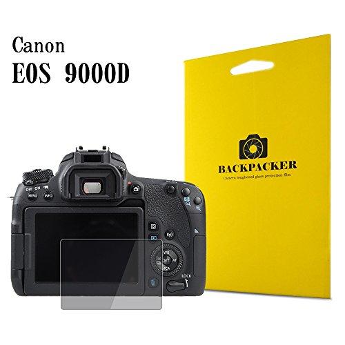 『【BACKPACKER】 カメラ液晶保護ガラス 液晶プロテクター 0.33mm強化ガラス使用 9H硬度 高鮮明 Canon EOS 9000D用』の1枚目の画像