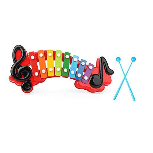 Lying Kinder 2-in-1-Hand klopfen auf das Klavier und Spielen Musikinstrumente und Spielzeug, pädagogische frühkindliche Oktave Klavier Memory Scene Puzzle