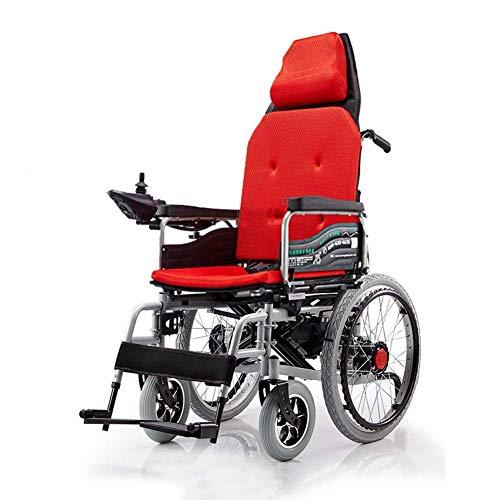 SED Leichtgewicht Trolley Elektrorollstuhl, Intelligente Fernbedienung (Mit 12A Lithium-Batterie) Für Smart Allrad-Rollstuhl Für Ältere Behinderte Hilfswagen Für Gehhilfen