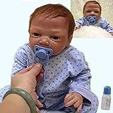 ZIYIUI 20 Pouces 50cm Poupée Bébé Reborn Garçon Silicone Souple Vinyle Corps Plein Réaliste Fait Main Vrai Vie Jouets Pas Cher Cadeaux de Vacances Reborn Toddler Doll