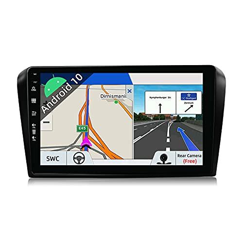 JOYX Android 10 Autoradio Compatibile Mazda 3 (2006-2012) - [2G+32G] - 2 DIN - Telecamera Canbus Gratuiti - 9 Pollici - 2.5D Schermo - Supporto DAB 4G WLAN Bluetooth5.0 Carplay Android Auto Volante