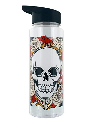 Water Bottle 500ml - Union Jack Skulls and Roses