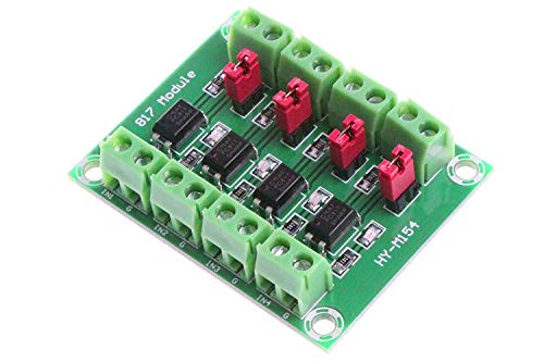 DollaTek PC817 4-Kanal Optokoppler Isolation Board Spannungswandler Adapter Modul 3,6-30 V Treiber Photoelektrisches Isolierte Modul