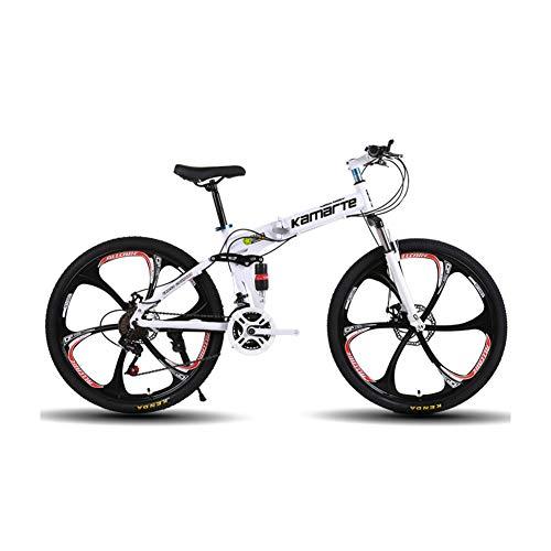 Vélo Pliable, 21/24/27 Vitesses, VTT Adulte, 24/26 Pouces, vélo, vélo de Route, Pliable, Double Frein à Disque, Cadeau,-24 Stage shift-24inches
