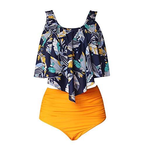 Bikinis Ruffle Swimsuit Woman Push Up Bikini de Cintura Alta...